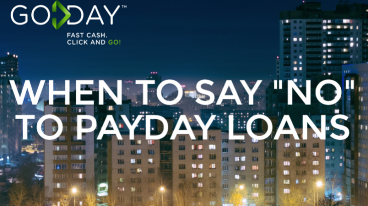 When To Say No To Payday Loans