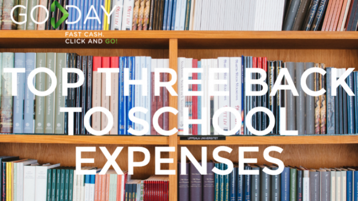 Top Three Back To School Expenses